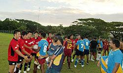 インドフィジアンチームとノーサイドを迎え・・・