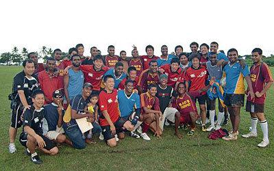 インドフィジアンチームと記念撮影