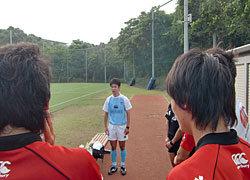 試合後、堀江レフリーか感想とアドバイスを頂きました