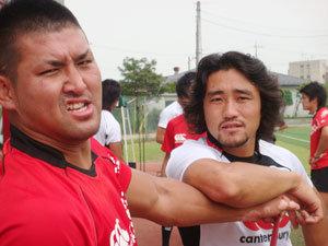 チームの中心でありムードメーカー 築城選手と北川選手