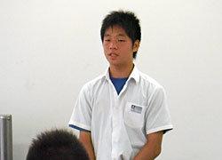 中学生チームのキャプテンを務めた藤井選手