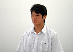 高校生チームのキャプテン、全体のリーダーを務めた藤田選手