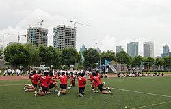 日本人学校で公開練習