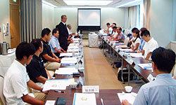 多くの現地メディア関係者が参加した情報交換会で後藤会長からのご挨拶
