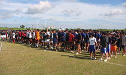 7人制クリニックに集まった高校生と女子選手