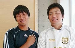 学生スタッフ。左:武藤君、右:小菅君。大変お世話になりました