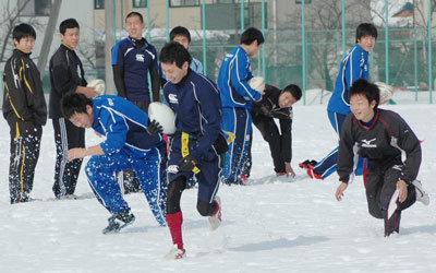 今年も2月6日に行われた「雪中ラグビー祭」